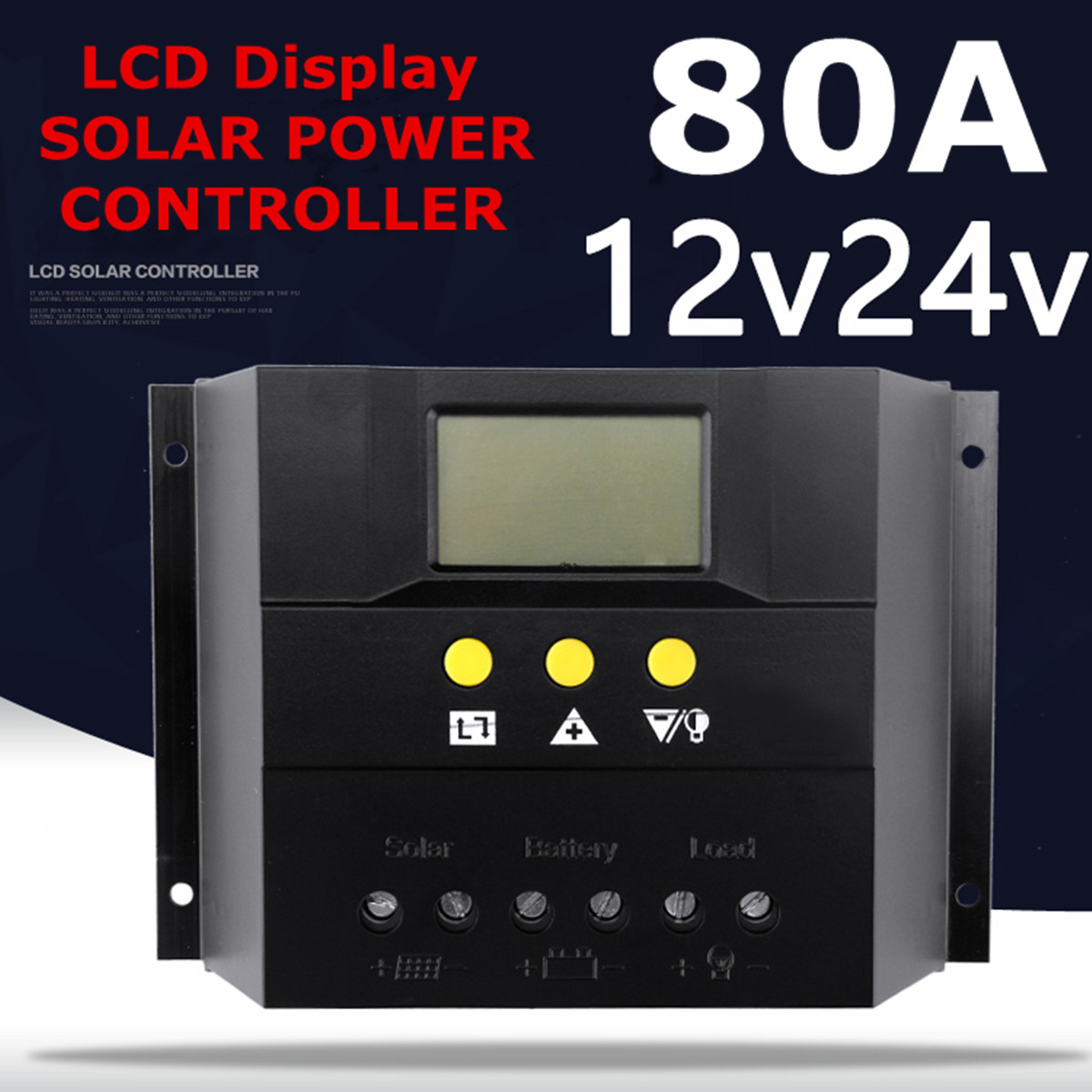 12v 24v 1920w Max Pwm Charging Mode 80a Solar Charge Controller Auto Panel Charger Circuit Battery Regulator Abs Short Protection