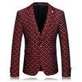 2017 novos chegada da alta qualidade de forma magro único botão terno ocasional Coreano jaqueta, blazer dos homens. vermelho e cinza. M. L. XL. XXL. XXXL.4XL