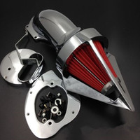 Chrome Triangle Spike Air Cleaner Kit For 1999 up Yamaha V Star 1100 Dragstar 1100 XVS1100 Motorcycle
