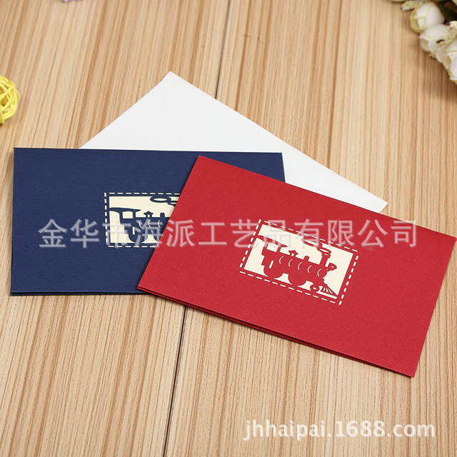 Online Shop Direct Manufacturers Happy Birthday Cards Creative Train Stereo Hollow Children Can Be Customized Drawings And Samples