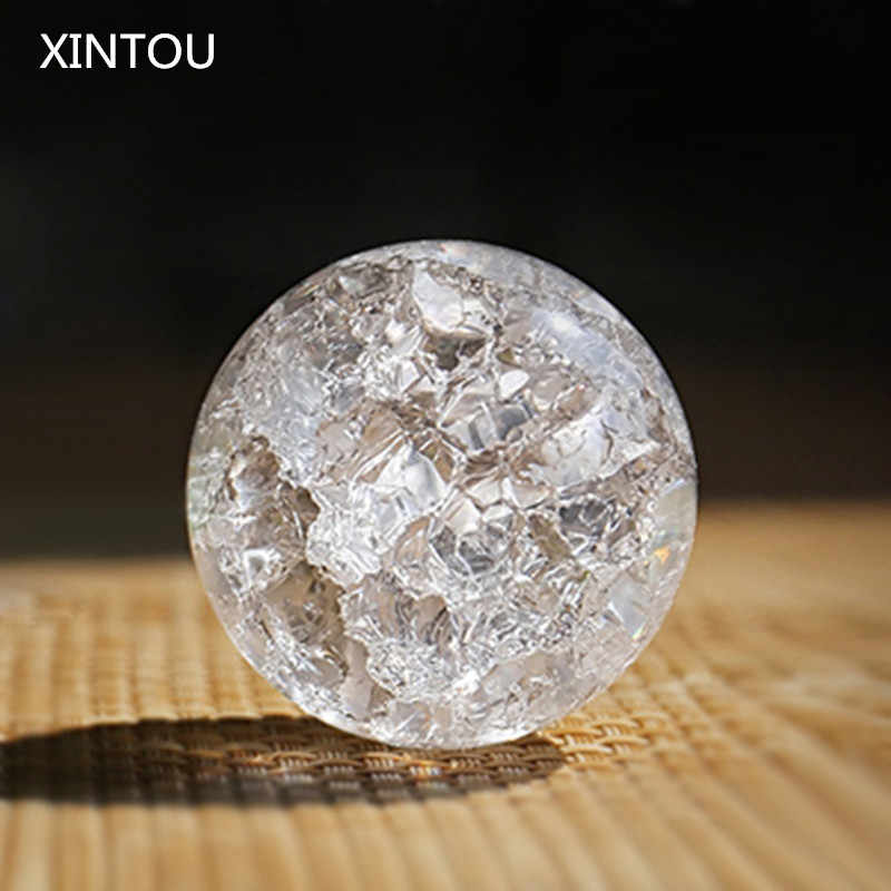 XINTOU Crystal Ice Crack Ball Home Decorative Glass Marbles Water Fountain Humidifie Ball Feng shui fountains Magic sphere Balls