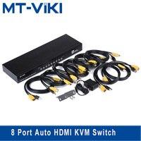 MT VIKI 8 Port Auto HDMI KVM Switch USB Hothey Console 1080P Video Switcher for 8 PC 1 Monitor Set w/ Original Cable MT 2108HL