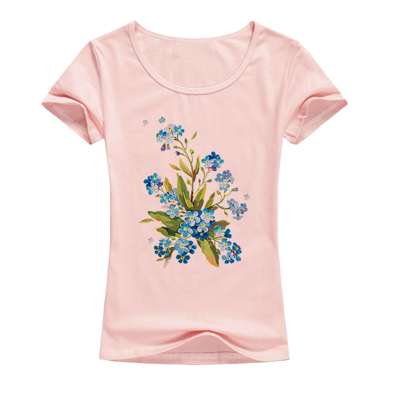 a9282c0448c4 Floral Print Graphic Tees 2017 Casual T-shirt Women Orchid Tops Flowers T  shirt Women Short Sleeve Tee Shirt Femme tshirt A81