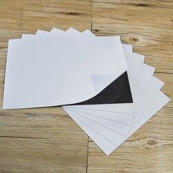 5 sztuk A4 rozmiar 0.5mm samoprzylepny elastyczny arkusz magnetyczny do wykrojników samochód/wystawa/reklama gumowy tablica magnetyczna w Tablice szkolne od Artykuły biurowe i szkolne na