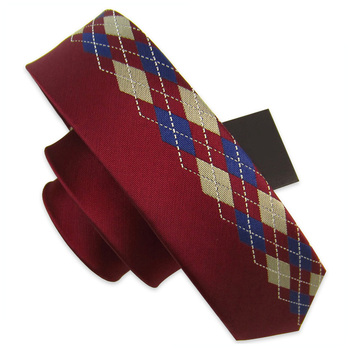 High Quality Mens Ties Unique Novelty Casual 5cm Slim Ties for Men England Red Plaid Style Skinny Necktie Pack with Gift BOX