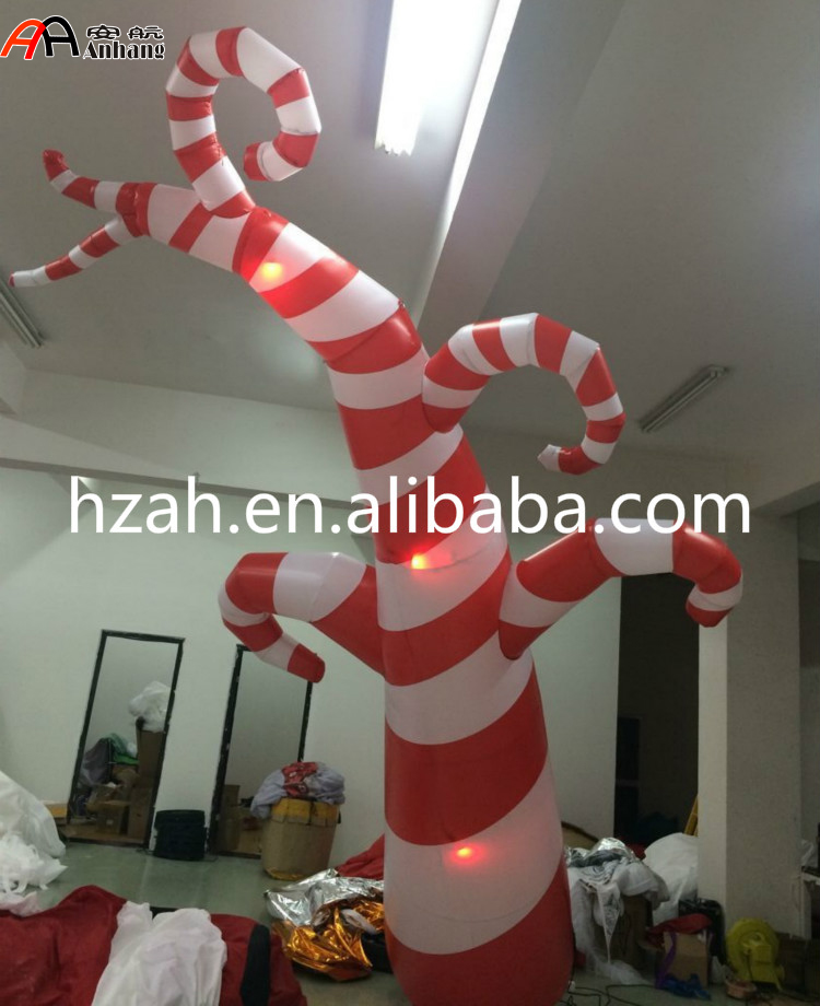 5m Inflatable Lighting Candy Tree for Christmas Decoration 2017 vioslite 2 1m inflatable christmas tree with bag in high quality for festival decoration