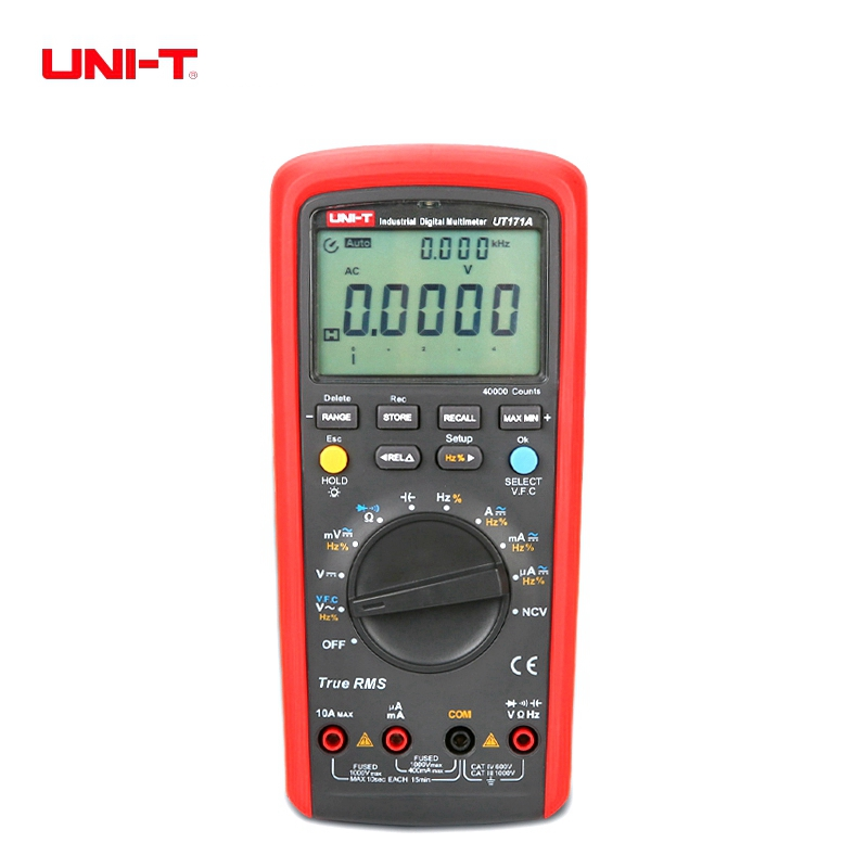 UNI T UT171A Industrial True RMS Digital Multimeters Auto/Manual Range 40000 Display Count Multimeters With USB Interface