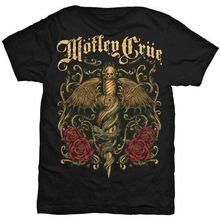 Design T Shirts Casual Cool Crew Neck 100% Cotton Short Sleeve Motley Crue Dr. Feelgood Dagger Mens Tee