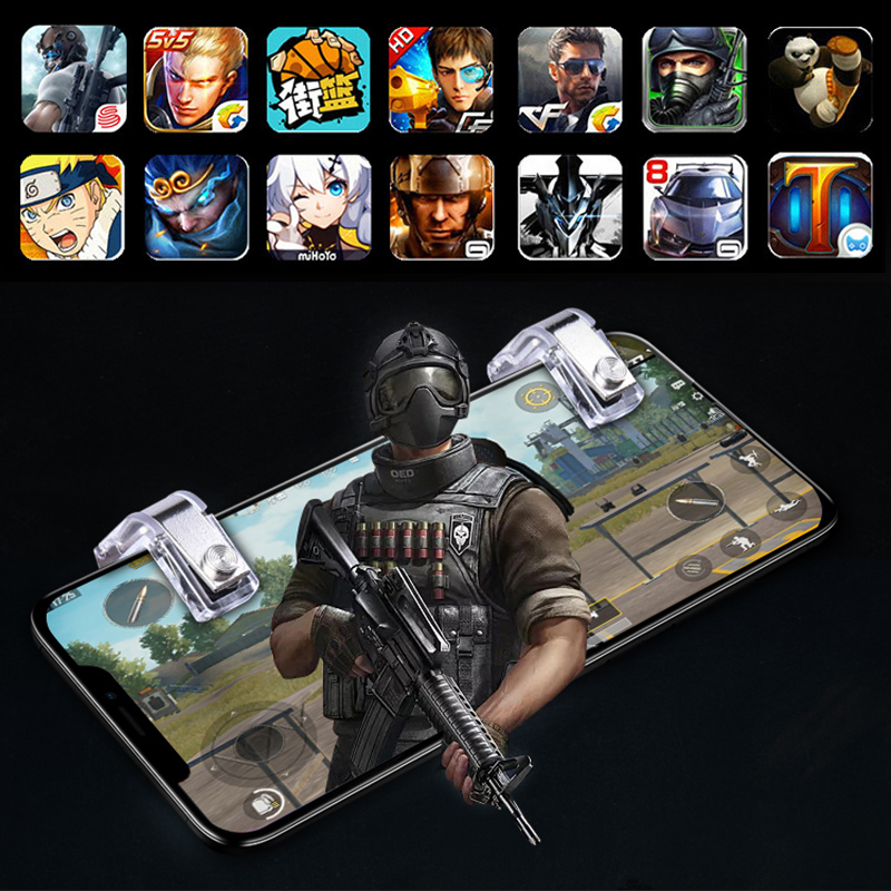 Купить с кэшбэком Yoteen Metal Gaming Trigger PUBG L1R1 Fire Controller Mobile Phone Shooting Game Button