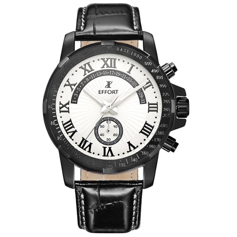 ФОТО Top Brand Functional Men Sports Watches Men's Quartz Chrono Clock Black Steel Leather Casual Military Wrist Costly Male Relogio