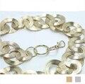 Correa de cadena del vientre de las mujeres de moda, correa de cadena de metal cinturones de hilo de oro para las mujeres del diseñador