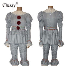 Film Stephen King's It Pennywise Cosplay Costume pour hommes Halloween Costume effrayant Joker Costume fantaisie mascarade fête Prop(China)