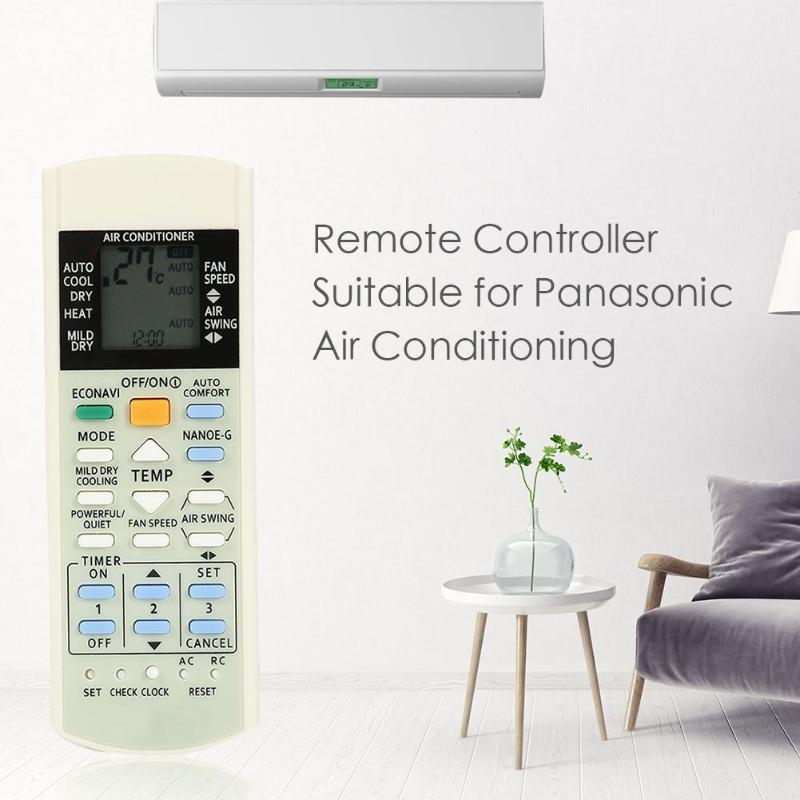 White Remote Control for Panasonic Air Conditioner A75C3208 A75C3706 KTSX5J  2XAAA Batteries