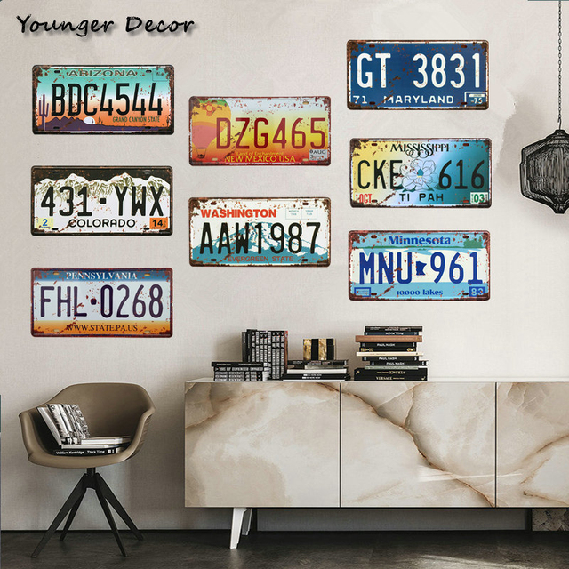 Retro Colorado Car License Plate Number Gt 3831 Metal Poster Bar Cafe Garage House Wall Decor Minnesota Arizona Tin Signs Ya007