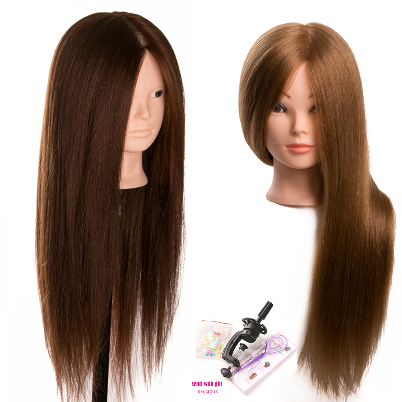 80 % Real Human Hair Training head dolls for hairdressers Mannequin Dolls blonde color professional styling head can be curled