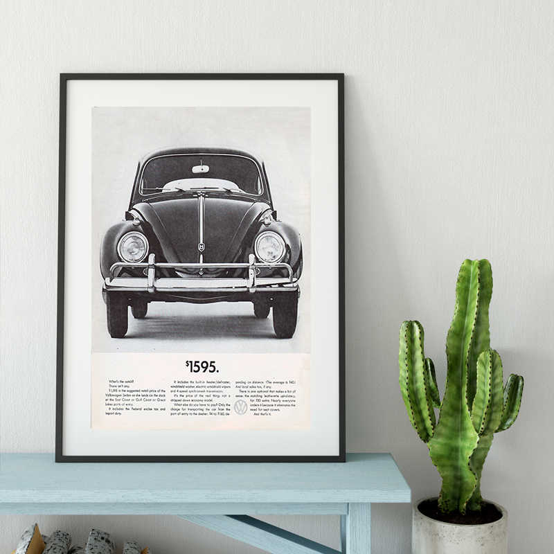 NEWBILITY Modern Car Posters and Canvas Print Painting for Study Decor Black and White and Abstract Quadro Enfant Quote Vintage