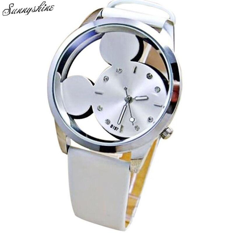 55a613bdf00 1 unid moda mujer chica relojes negocios delgada señoras del reloj del cuarzo  reloj de cuero wholesalef3
