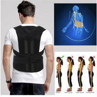 Unisex Adjustable Back Posture Corrector Brace Back Shoulder Support Belt Posture Correction Belt for Men Women S XXL Belt Healt
