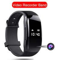 1080P cámara de vídeo profesional Grabación de voz Smartband cámara de fotos HD pantalla inteligente reloj Smartwatch