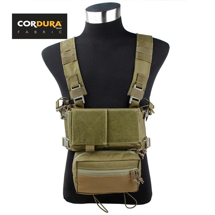 TMC Cordura SS Micro Low Profile Light Fight Combat Chest Rig Combo Khaki SKU051173