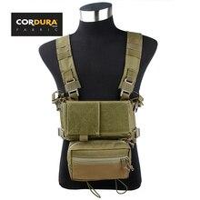 TMC Cordura SS Micro Low Profile Light Fight Combat Chest Rig Combo Khaki(SKU051173)