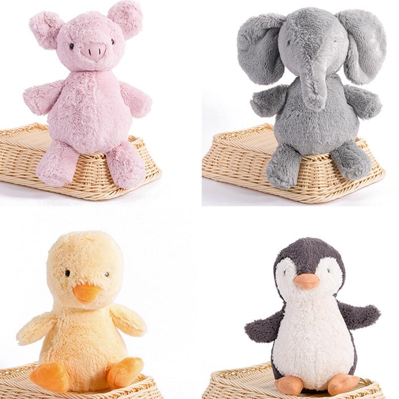 16-40cm kawayi cute plush toy stuffed Toys soft toy Elephant Penguin Pig chick doll baby kids animal toy birthday gift ZJD