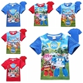 New design boys cartoon t shirt t-shirt top boy kids summer cotton children's leisure tee tops