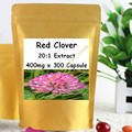 Red Clover 20:1 Extract 400mg x 300 Capsule, MENOPAUSE SYMPTOMS RELIEF free shipping