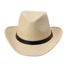 Оптовая Kimisohand Новый Горячей Моды 6 Цветов Летние Мужчины Соломенная Шляпа Ковбойская Шляпа мужская Мода Горячей Продажи