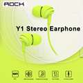 Rock y1 estéreo com fio fone de ouvido com microfone 3.5mm de ouvido fones de ouvido para iphone samsung xiaomi com microfone