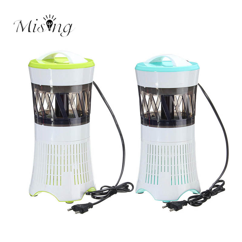 Mising 220V 2W LED Flying Insect Mosquito Killer Lamps Electric Zapper Bug Fly Wasp Trap Pest Control Killing Light for Camping
