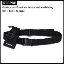 MSC 20A naylon bel çantası kılıf çanta için radyo BaoFeng UV XR UV 9R artı UV 5R UV 82 BF 888S ham İki yönlü radyo
