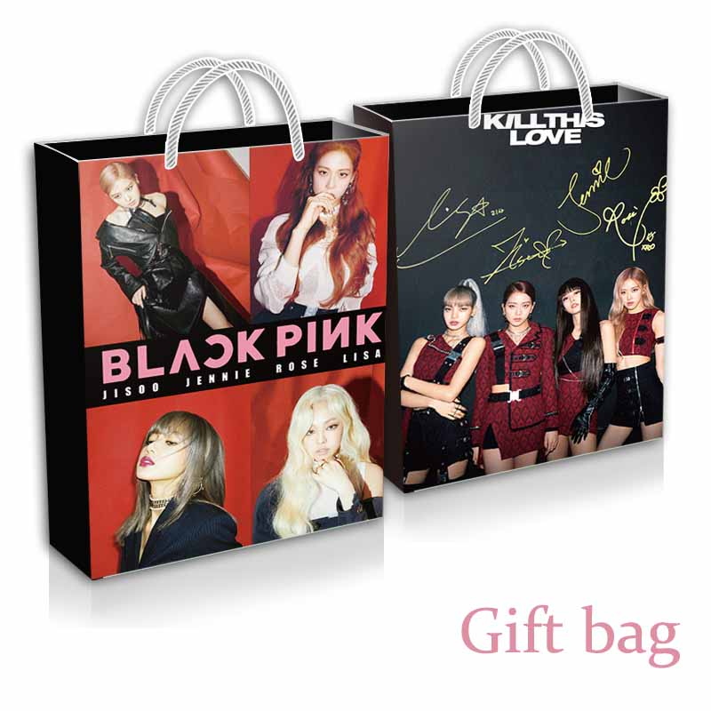 2019 mode Kpop Blackpink exquis boîte cadeau affiche Photocard cadeau Bog et Cd Blackpink Fans cadeau d'anniversaire pour les filles livraison directe - 3