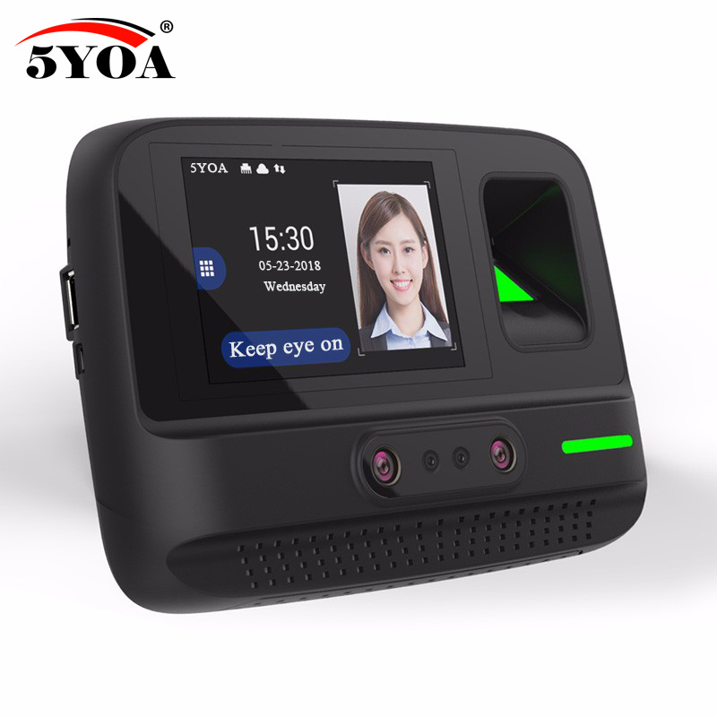 5YOA AF4 Time Attendance WIFI Wireless Management System Face Fingerprint Password Biometric Device Facial Recognition стоимость