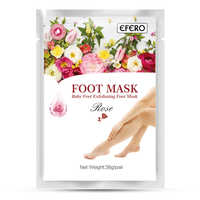 7pack=14pcs Efero Baby Feet Exfoliating Foot Mask Peeling Socks for Pedicure Cracked Heel Foot Cream Pads Foot Peeling Mask Skin Care