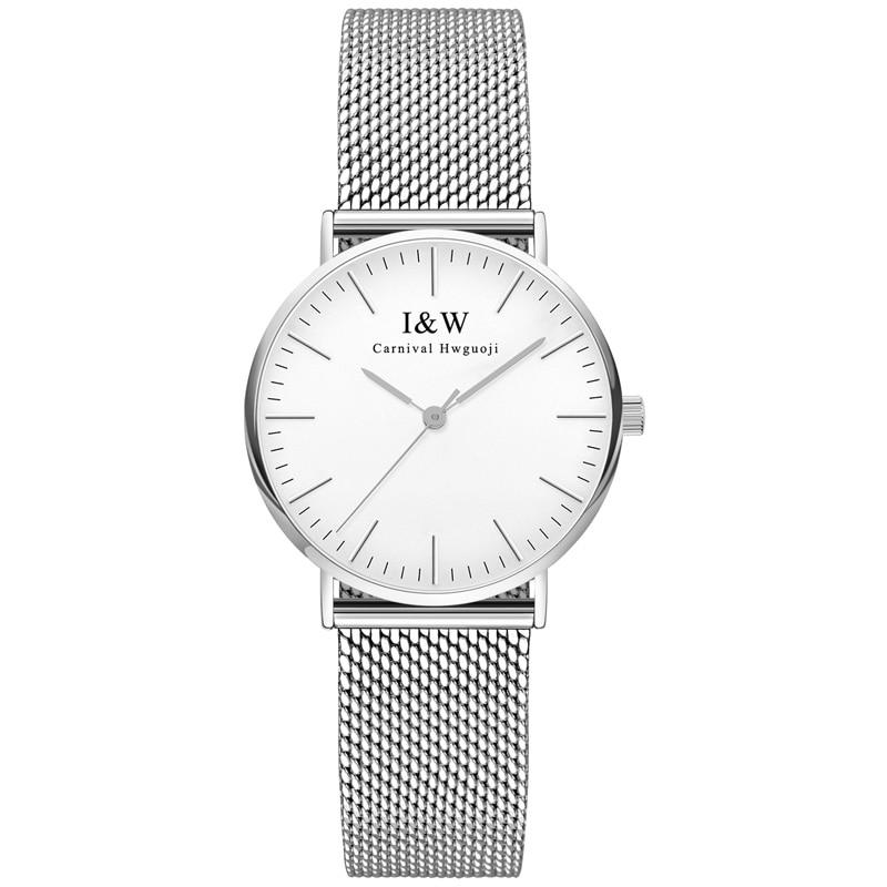 Carnaval marque de luxe montre femmes suisse Quartz femmes montres étanche pleine acier inoxydable diamant reloj hombre C8758 8-in Montres femme from Montres    1