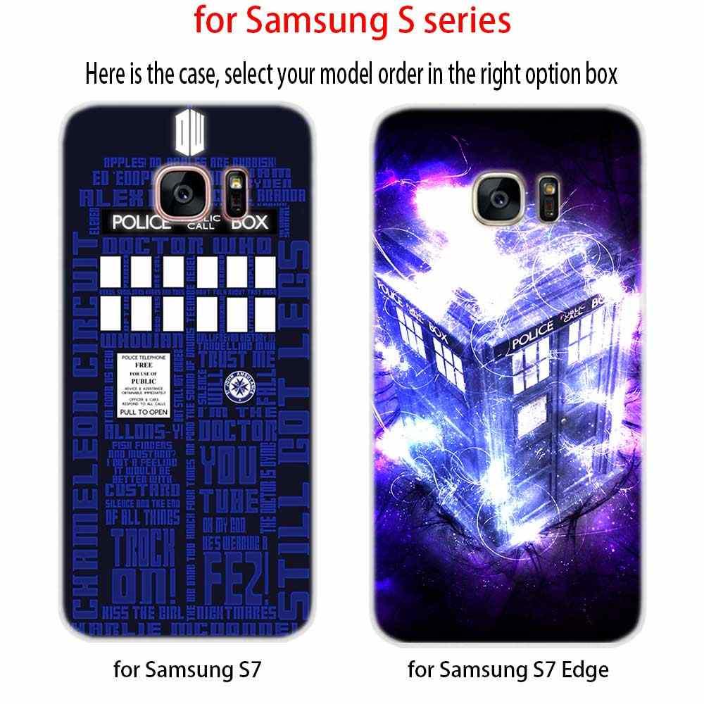 Чехол для samsung S4 S5 мини S6 S7 Edge Plus S8 S9 плюс S10 чехол мягкий силиконовый 3D ТПУ M20 ТАРДИС Box Доктор Кто