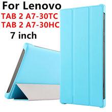 Case Pour Lenovo TAB2 A7-30HC TAB 2 A7-30TC De Protection Smart cover de la Tablette en cuir Pour TAB 2 A7-30 7 pouce PU Protecteur Manches Case