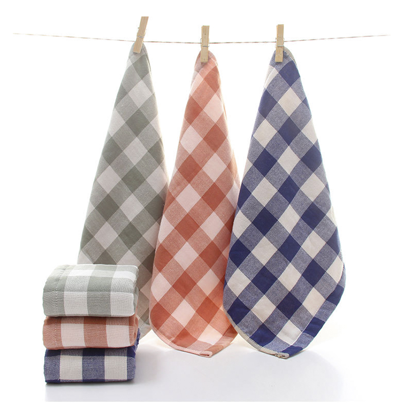 Hand Towel Cotton Towels Bathroom 2 Pieces Soft Super Absorbent Towels Plain Dyed Kitchen Travel Sports Gym Gift 34x34cm
