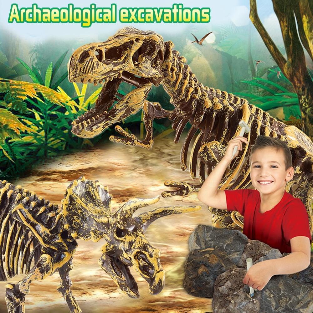 Dinosaur Toys Science Educational Dig Kit, Dinosaur Fossil Excavation Kits  birthday gift toys for children  CC3Learning & Education