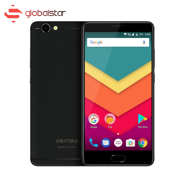 Vernee Thor Plus 6200mAh MT6753 Octa Core Android 7.0 Cellphone 5.5 Inch Fingerprint 3GB RAM 32GB ROM Smartphone 4G Mobile Phone