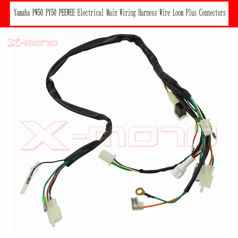 online get cheap motorcycle wiring harness aliexpress com electrical main wiring harness wire loom plus connectors for yamaha pw50 pw py 50 py50 peewee 2 stroke 50cc dirt bike motorcycle