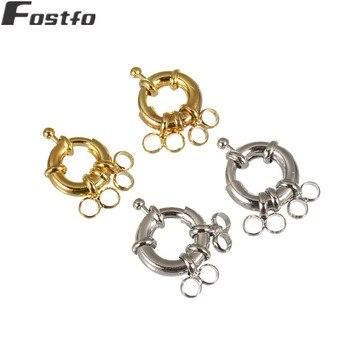 4be082931f4d 10 unids lote rodio Color oro broches joyas de Metal de cobre cierres para  collar pulsera conector Diy accesorios de fabricación de la joyería