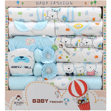 16 PCS/Set 100% Cotton Summer Baby Clothes Full Months Baby Clothing Baby's Sets 0-3 Months Infants Clothes Suit For Baby Gift