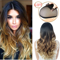 Wignee Long Body Wave Hair Synthetic   Wigs   For Women High Temperature Fiber Ombre Black Brown/Blonde/Pink/Grey   Cosplay   Hair   Wigs