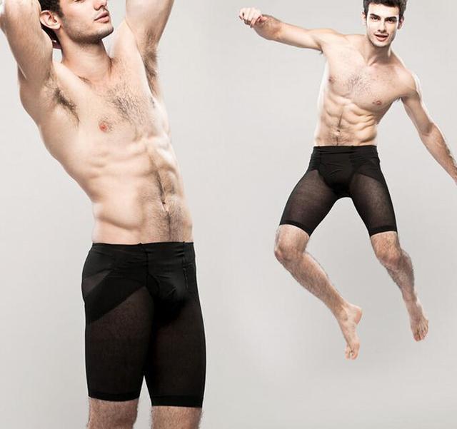 Homens emagrecimento shaper do corpo pernas massagem respirável calcinha butt lift cintura oriente calças controle cintura tummy trimmer