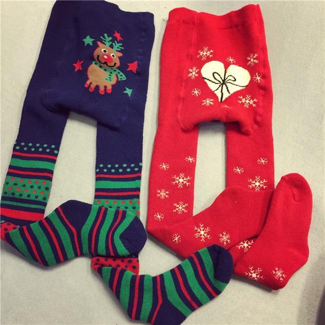 kidsbabyenfanttoddlerchildren christmas snow deer tightshigh knee pantyhosechaussette haute for garconboysgirlsfille in tights stockings from