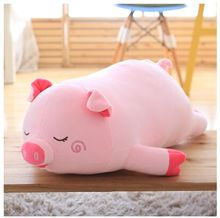 small cute plush pink pig pillow toy new sleeping pig doll gift about 40cm