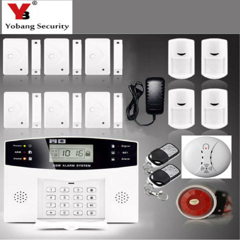 YoBang Security Wireless Automatic Dial Home Security Alarm System English Russian French Spanish Ltalian Sound GSM Alarm System maryam ahmed automatic taxi trip sensing and indicating system though gsm