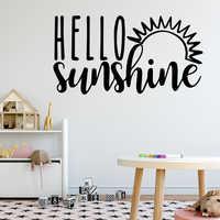 Belleza Hello Sunsine vinilo impermeable pared arte Calcomanía para niños sala de estar decoración del hogar Decoración Accesorios murales